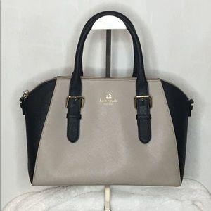 Kate Spade Black and Tan Large Tote Bag